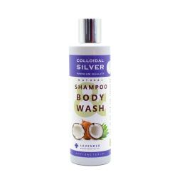 NGS 100% Natural Antibacterial Colloidal SILVER SHAMPOO & BODYWASH with LAVENDER (Essential Oil) - 250mls
