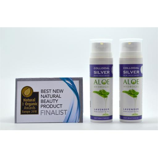 NGS Colloidal Silver ALOE & LAVENDER ESSENTIAL OIL HYDROGEL 50ml