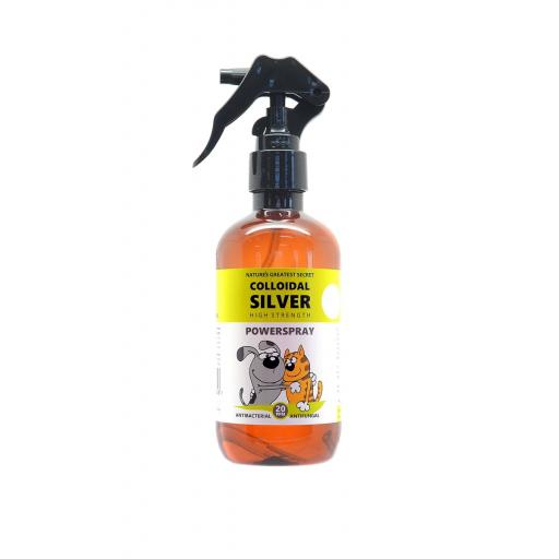 NGS Colloidal Silver for Pets - POWERSPRAY - 20ppm Effective Trigger Action 250mls