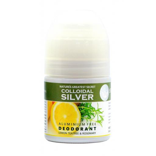 NGS Aluminium Free Antibacterial SILVERGEL DEODORANT (Lemon Teatree & Fresh Rosemary Essential Oil) 50mls