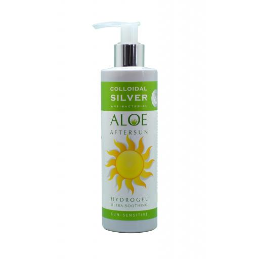 NGS Colloidal Silver - Soothing & Effective Antibacterial ALOE VERA AFTERSUN HYDROGEL 250mls