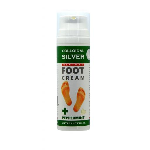 NGS Colloidal Silver - Antibacterial Foot Restore Cream - 50ml Pump Dispenser