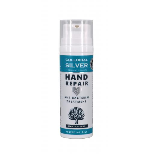 NEW ALL NATURAL Colloidal Silver Antibacterial - Hand Repair Cream 50mls