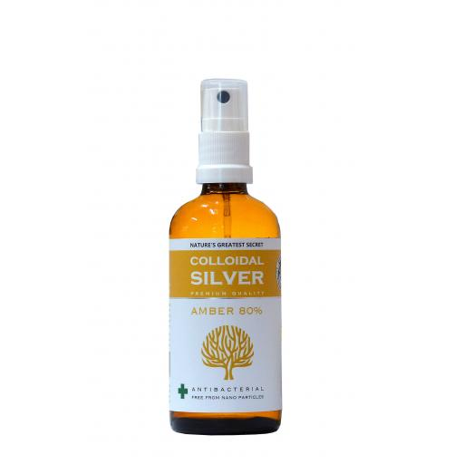 NGS Amber 80% Colloidal Silver 100ml Spray