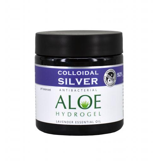 NGS Colloidal Silver ALOE & LAVENDER ESSENTIAL OIL HYDROGEL 100g