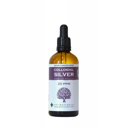 NGS 20ppm Enhanced Colloidal Silver - 100ml Dropper - pH 9.0