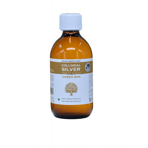 NGS Amber 80% Colloidal Silver 300ml Bottle