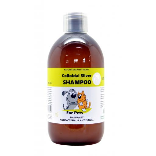 NGS Colloidal Silver for Pets - Antibacterial SHAMPOO - 500mls